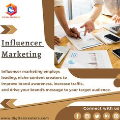 Influencer marketing involves a brand collaborating with an online influencer to market one of its products or services. For more information, stay tuned with Digital Creaters. Visit our official website for more marketing tips. #InfluencerMarketing #digitalmarketing #marketing #influencer #DigitalCreaters #socialmediamarketing #socialmedia #branding #SEO #OnlineMarketing #marketingstrategy #business #marketingtips #advertising #targetaudience #organizations #webdesign #brandawareness Best Marketing Companies, Best Digital Marketing Company, Digital Marketing Services, Social Media Marketing, Online Marketing, Best Web Development Company, Marketing Poster, Digital Trends, Influencer Marketing