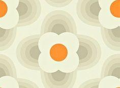 Striped Petal wallpaper by Orla Kiely