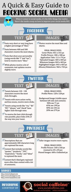 a quick & easy guide to social media #infographic
