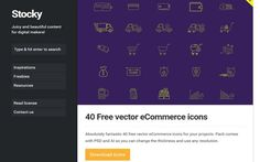 Recursos gratis para marketeros en Stocky - iconos gratis