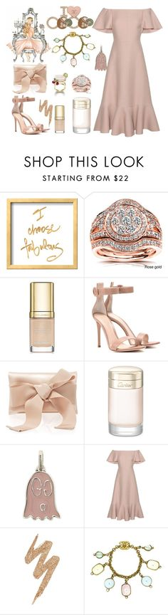 """""""Something pink"""" by ellenfischerbeauty ❤ liked on Polyvore featuring Annello, Dolce&Gabbana, Piaget, Gianvito Rossi, Oscar de la Renta, Cartier, Gucci, Valentino, Urban Decay and Chanel"""