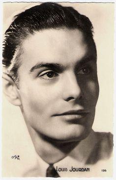 Louis Jourdan (1921-2015). French postcard by Editions O.P., Paris, no. 135. Photo: Star.
