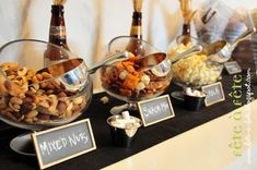 snacks for beer table