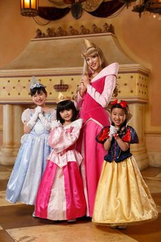 Once upon a dream...three little princesses with Aurora