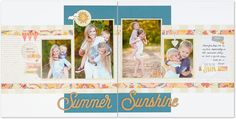 Use the Huntington pattern to make your own beautiful scrapbook layout! #ctmh…