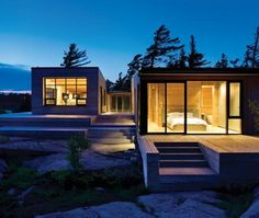 georgian bay cottage: awesome rectilinear cottage designed by superkul. via canadian house & home july 2009