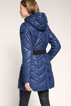 Esprit / lightweight quilted coat with down - i like a lot
