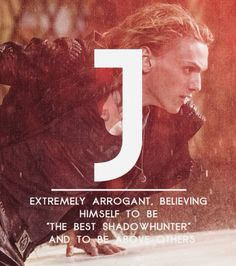 The Mortal Instruments: City of Bones Movie Character stills with words about them.  J for Jace /|B