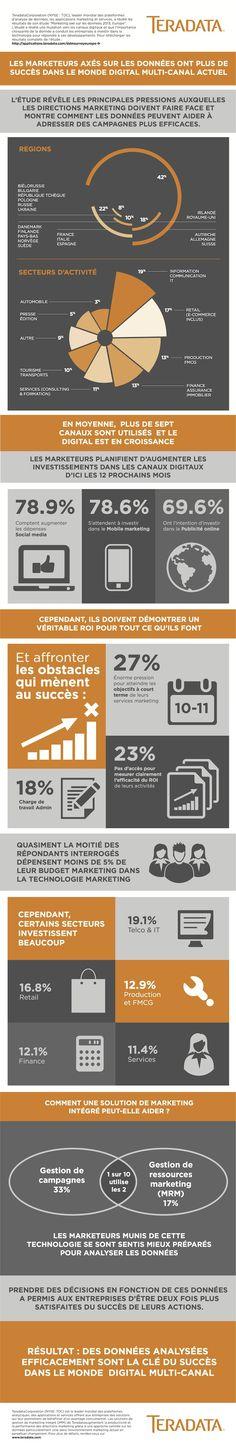 Teradata Infographic : 79% des directions marketing prévoient d'investir dans le social media dans les prochains mois