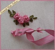 Wonderful Ribbon Embroidery Flowers by Hand Ideas. Enchanting Ribbon Embroidery Flowers by Hand Ideas. Ribbon Embroidery Tutorial, Rose Embroidery, Silk Ribbon Embroidery, Embroidery Kits, Embroidery Designs, Embroidery Stitches, Embroidery Supplies, Machine Embroidery, Embroidery Boutique