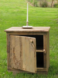 Barnwood cabinet. This guy from NY builds and sells handmade furniture from repurposed Hudson Valley barnwood