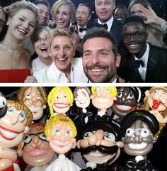 The Oscar selfie made out of balloons..