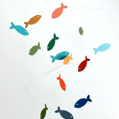 How to make a whimsical fish mobile.