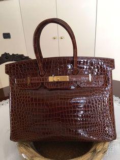 cb1e3c03b64e Plateforme de ventes aux enchères en ligne Catawiki   Hermès - Birkin 35  Crocodile Porosus Sac
