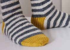 Childs striped socks on Ravelry Wool Socks, Knitting Socks, Hand Knitting, Baby Knitting Patterns, Crochet Patterns, Knitting Projects, Crochet Projects, Striped Socks, Knitting Accessories