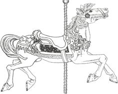 Image Detail For Free Coloring Page Carousel Animals Book Download