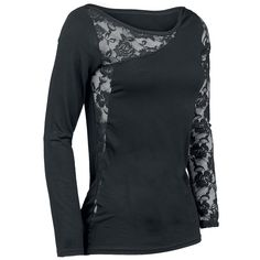 Lace Shoulder - Girls longsleeve by Spiral - Article Number: 240416 - from 26.99 € • EMP