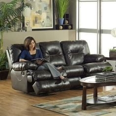 Catnapper - Cortez Bonded Leather Dual Reclining Sofa in Brown - 4291 Faux Leather Sofa, Leather Reclining Sofa, Leather Recliner, Bonded Leather, Sofa Furniture, Furniture Making, Homemakers Furniture, Sectional Sofa With Recliner, Beautiful Sofas