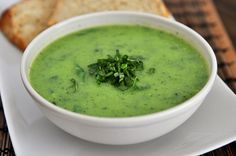 No-Cream Creamy Spinach Chicken Soup, from Mel's Kitchen Cafe. The thickness comes from zucchini!