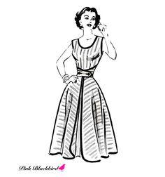 1950s Wrap Dress Pattern -- Vintage 1950s Anne Adams Dress Sewing Pattern 4839.