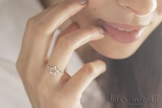 Gold Ring, Star Ring, 14 karat gold Ring, Minimal Jewelry, Dainty Ring, Star Band
