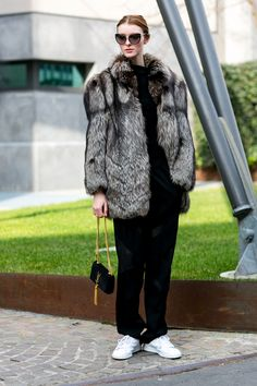 Street fashion: Milan Fashion Week jesień-zima 2015/2016, fot. Imaxtree