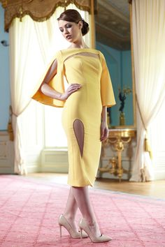 Phoenix_V, located in on Maylor Street, Cork, stocks a range of exclusive occasion dresses, gowns and jackets that exude utter elegance with classic beauty. V Collection, Fishtail Dress, Pencil Dress, Yellow Dress, Black Tie, Mother Of The Bride, Phoenix, Lemon, Bodycon Dress