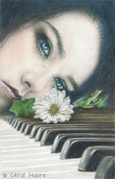 Send Me A Song  Done in colored pencil
