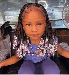 Little Girls Natural Hairstyles, Lil Girl Hairstyles, Black Kids Hairstyles, Black Girl Braided Hairstyles, Baddie Hairstyles, Kids Cornrow Hairstyles, Little Girl Braids, Black Girl Braids, Braids For Kids