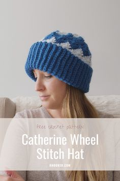 If you're looking for a completely unique way to crochet a hat, you're in the right place! The Catherine Wheel Stitch Crochet Hat is the result of an experiment that, to our surprise, worked beautifully. #BHooked #Crochet #FreeCrochetPattern