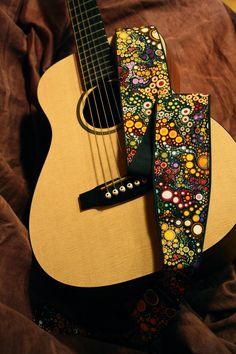 Vegan Guitar Strap-Galactic pattern. $25.00, via Etsy.