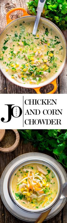 Chicken and Corn Chowder - one pot and under 30 minutes is all you need to make this delicious and comforting chowder loaded with chicken and corn.