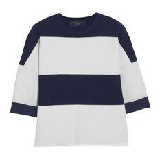 Derek Lam navy and white stripes sweater