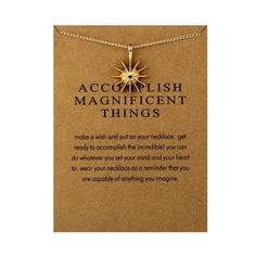 ACCOMPLISH MAGNIFICENT THINGS Starburst Charm Necklace