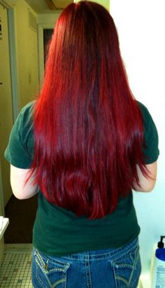Manic Panic Vampire Red On My Unbleached Hair