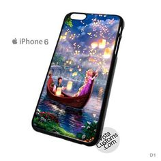Disney Tangled Lights Art Phone Case For Apple, iphone 4, 4S, 5, 5S, 5C, 6, 6 +, iPod, 4 / 5, iPad 3 / 4 / 5, Samsung, Galaxy, S3, S4, S5, S6, Note, HTC, HTC One, HTC One X, BlackBerry, Z10