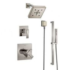 Monitor 17 Series Dual Function Pressure Balanced Shower System With  Integrated Volume Control, Shower Head, And Hand Shower   Includes Rough In  Valves