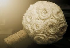 FREE SHIPPING  Crocheted Wedding Bouquet by AshleyAnneBoutique, $275.00