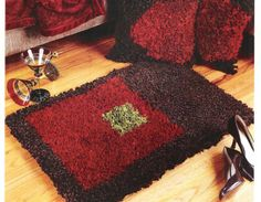 Throw Rugs Easy Latch Hook Patterns Booklet by StitchySpot on Etsy, $6.00