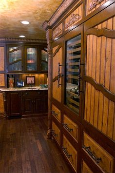Tuscan Kitchen-I could attach some handles like these to my cabinets