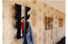 Metal Wall Coat Rack with Mirror www.tszuji.co.uk