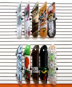 Bordz-Up Pivoting Skateboard Display and Storage Rack