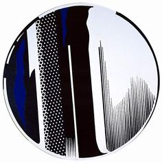 Roy Lichtenstein 1970 - MIRROR - Oil and magna on canvas cm diameter) Roy Lichtenstein Pop Art, Industrial Paintings, Comic Book Style, Mirror Painting, Equine Art, Art Plastique, New Art, Abstract Art, Abstract Landscape