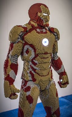 Lego Iron Man as he appears in Iron Man 3.