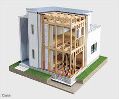 建築構造CGパース