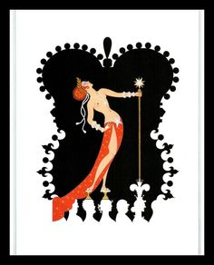 Romain de Tirtoff (Erte) – The Seven Deadly Sins: Pride Arte Art Deco, Moda Art Deco, Art Deco Artists, Estilo Art Deco, Art Deco Print, Art Deco Illustration, Art Illustrations, Erte Art, Romain De Tirtoff