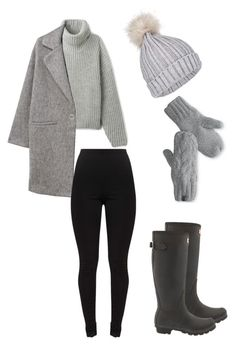 """""""winter outfit"""" by madisenharris on Polyvore featuring MANGO, Hunter, The North Face and Miss Selfridge"""