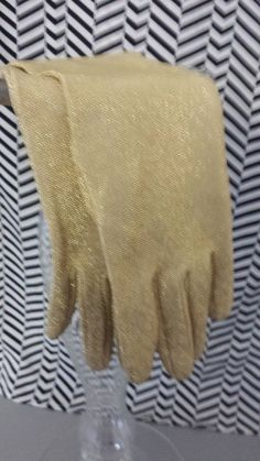 Vintage Old Pair of 1950  1960's Gold Glitter by CeattaRetro