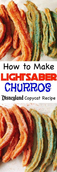 An easy copycat recipe for Disneyland churros and Disney World churros! Learn how to make Disney's Star Wars Lightsaber Churros!