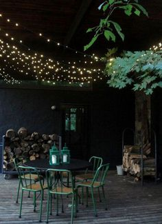 I want string lights on out back deck!The Best Outdoor String Lights To Light Up the Backyard, Patio, or deck. Outdoor Rooms, Outdoor Dining, Outdoor Gardens, Outdoor Decor, Outdoor Cafe, Outdoor Parties, Outdoor Ideas, Dining Area, Indoor Outdoor
